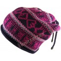 Fashionable Fair Isle Patterned Corded Slouchy Beanie