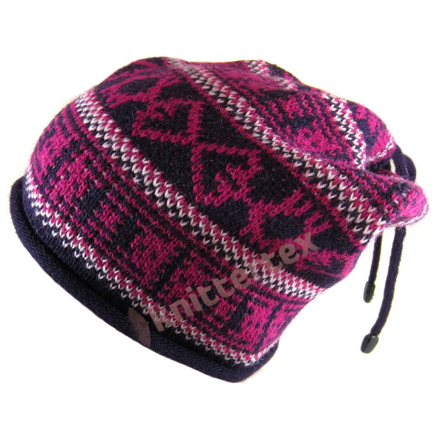 Fashionable Fair Isle Patterned Corded Slouchy Beanie ...