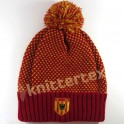 Heart Patterned Premium Knit Embroidered Bobble Hat