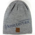 Soft Touch Plain Knit Gray Slouchy Beanie