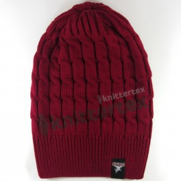 Cable Knit Special Ironed Sports Slouchy Beanie