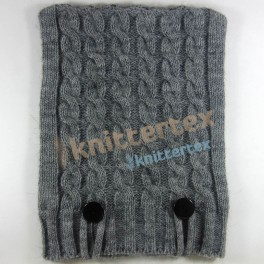 Soft Touch Cable Knit Melange Gray iPad Case