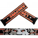 Lion Patterned Four Colored Knit Football Scarf