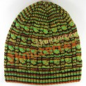 Multi Colored Mixed Appearanced Cable Knit Beanie