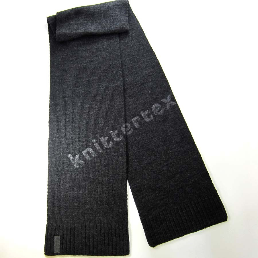 Fashionable Scarves  Woven Labeled Melange Gray Knit Fashion Scarf Fashion Scarves To Knit